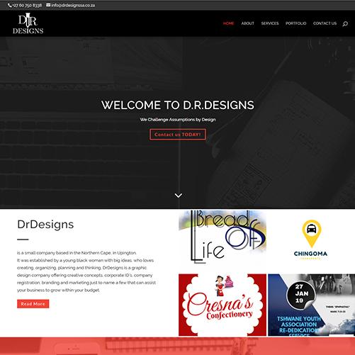 Graphics Designer Website Design