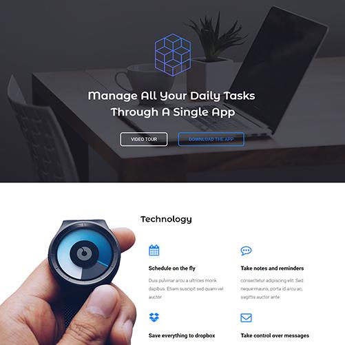App Promotional Website Design