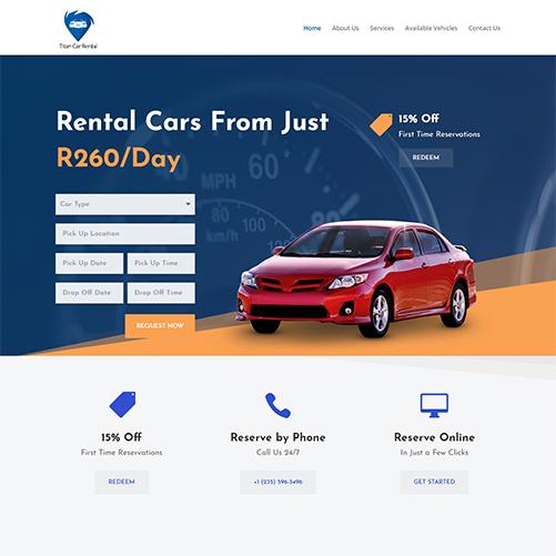 Car Rental Website Design