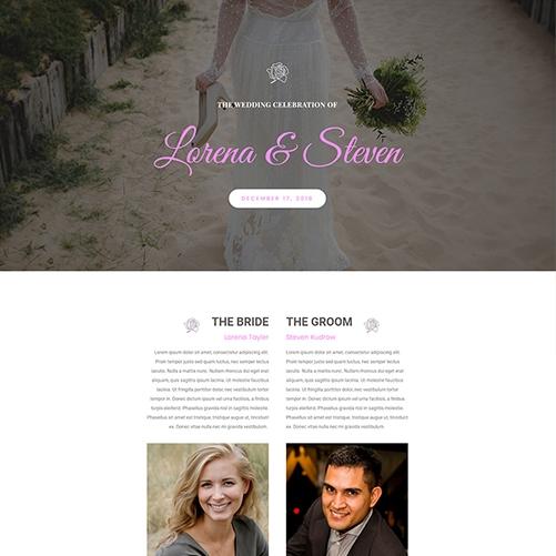 Wedding Celebration Website Design